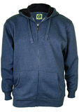 KAM PLAIN HOODY-fleecy tops & hoodies-KINGSIZE BIG & TALL