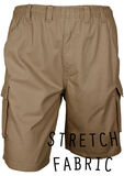 BRONCO STRETCH E/W CARGO SHORT-big mens basics-KINGSIZE BIG & TALL