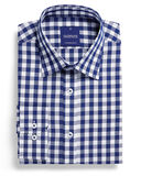 GLOWEAVE BROADCHECK L/S C/A SHIRT-shirts-KINGSIZE BIG & TALL