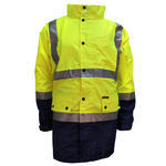 PRIME MOVER LIGHTWEIGHT HI VIS RAIN JACKET-rainwear-KINGSIZE BIG & TALL
