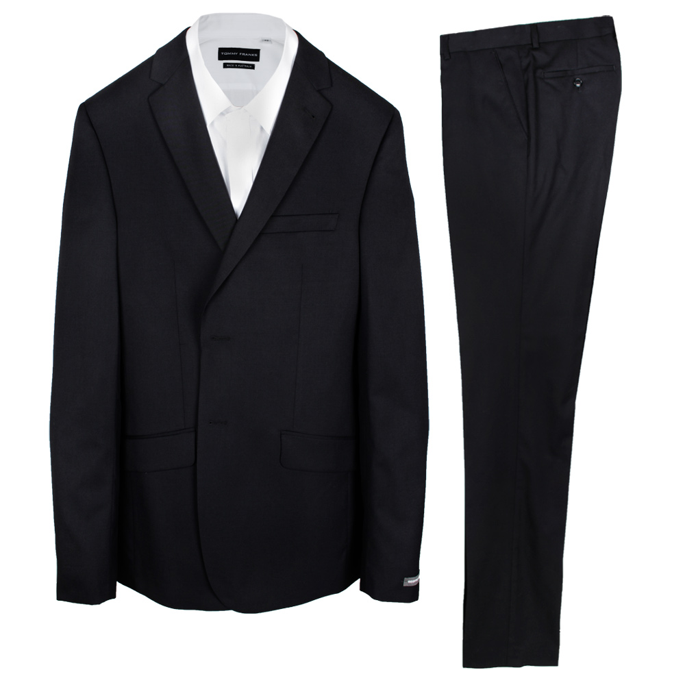 GEOFFREY BEENE TALL PLAIN BLACK SUIT