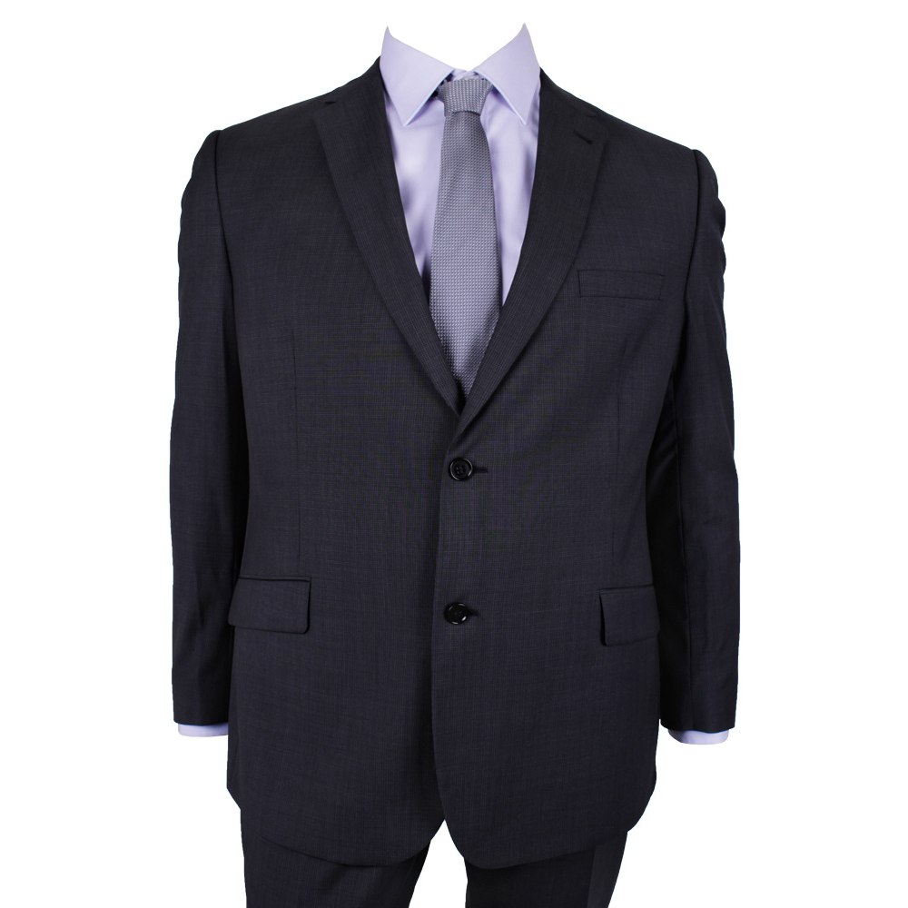GEOFFREY BEENE MINICHECK SUIT - TALL MENS SUITS | EXTRA LONG SUITS ...